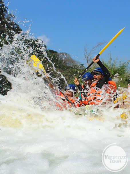 Rápidos del río Pescados Jalcomulco, Veracruz
