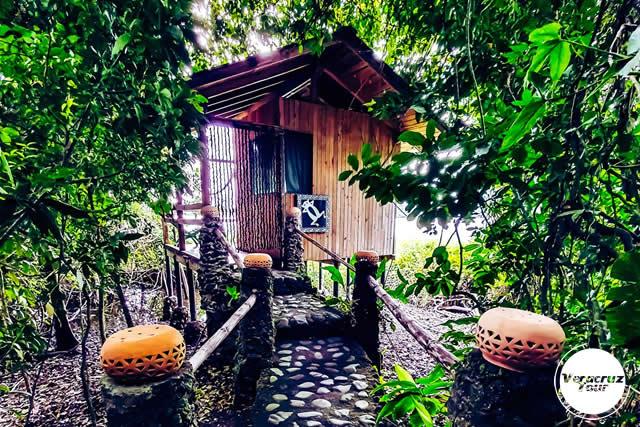 Alojamiento en la reserva ecológica Nanciyaga, Veracruz